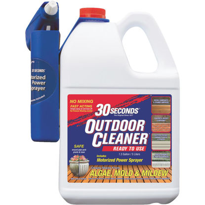 Picture of 30 seconds Outdoor Cleaner 1.3 Gal. Ready To Use Power Sprayer Algae, Mold & Mildew Stain Remover