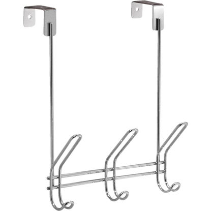 Picture of InterDesign Classico Over-The-Door Chrome 3-Hook Rail