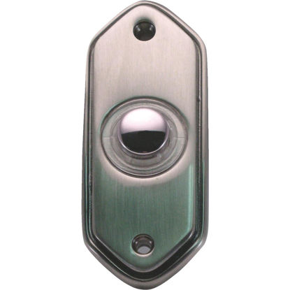 Picture of IQ America Wired Pewter Lighted Doorbell Button