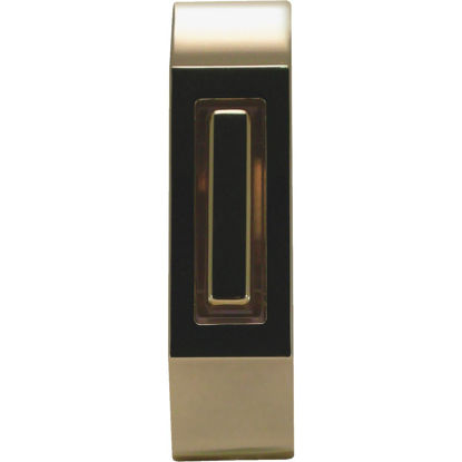 Picture of IQ America Wired Polished Brass & Brown Lighted Doorbell Button