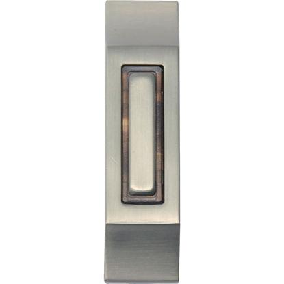 Picture of IQ America Wired Rectangular Satin Nickel Lighted Doorbell Button