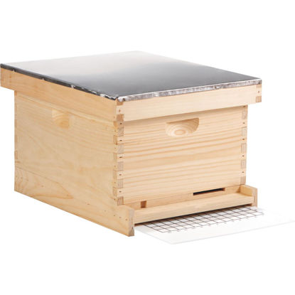 Picture of Little Giant 18.25 In. W. x 14 In. H. x 21.875 In. L. Assembled Deep Beehive, 10 Frames
