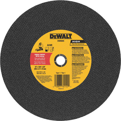 Picture of DeWalt High Performance 10 In. x 7/64 In. x 5/8 In. Type 1 Metal Cut-Off Wheel