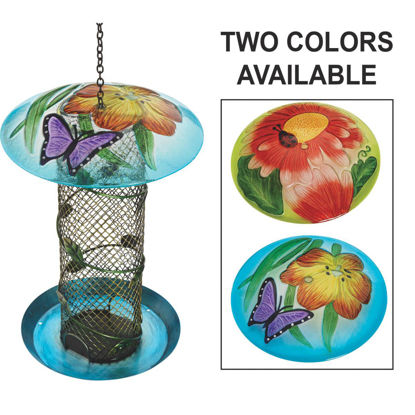 Picture of Best Garden Multi-Colored Glass Mesh Tube Bird Feeder