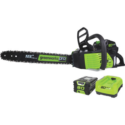 Picture of Greenworks Pro 18 In. 80V Lithium Ion Brushless Cordless Chainsaw