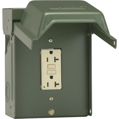Picture of GE Backyard 20A Green Residential Grade 5-20R GFI Outlet