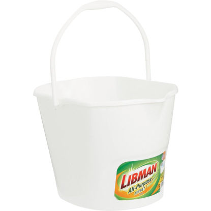 Picture of Libman 3 Gal. White All-Purpose Dual Spout Bucket