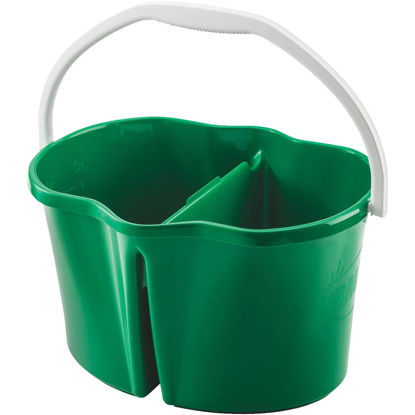 Picture of Libman Clean & Rinse 4 Gal. Green Divided Bucket