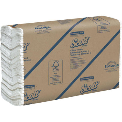 Picture of Kimberly Clark Scott C-Fold White Hand Towel (12 Count)