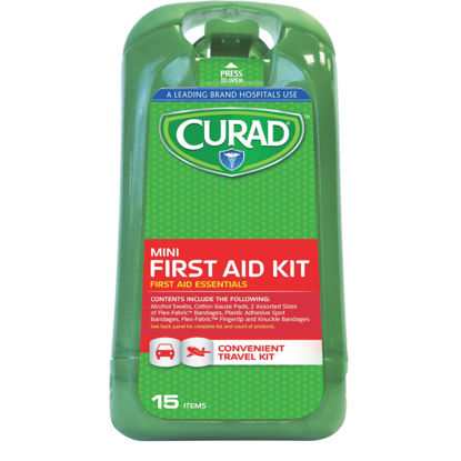 Picture of Curad Mini First Aid Kit (15-Piece)