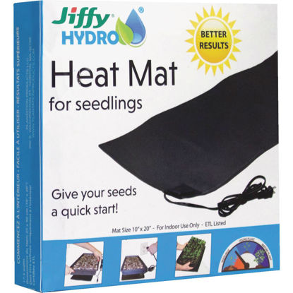 Picture of Jiffy Hydro 10 In. x 20 In. 17.5W Seedling Heat Mat