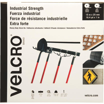 Picture of VELCRO Brand 1 In. x 49 Ft. Black Industrial Strength Hook & Loop Roll
