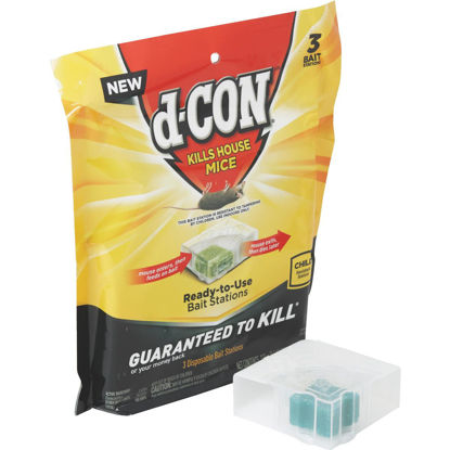 Picture of D-Con Disposable Corner Fit Mouse Bait Station (3-Pack)
