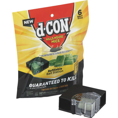 Picture of D-Con Refillable Corner Fit Mouse Bait Station (6-Refill)