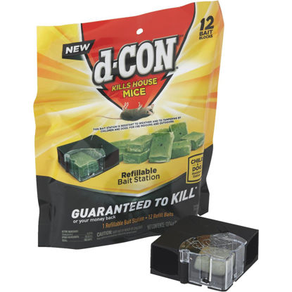 Picture of D-Con Refillable Corner Fit Mouse Bait Station (12-Refill)