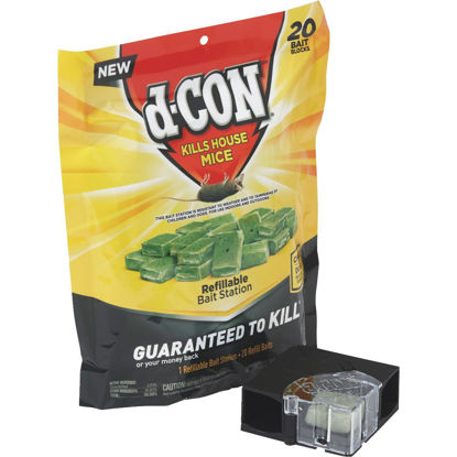 Picture of D-Con Refillable Corner Fit Mouse Bait Station (20-Refill)