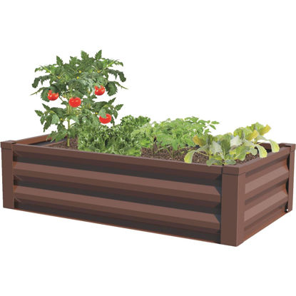Picture of Panacea 24 In. W. x 12 In. H. x 48 In. L. Timber Brown Metal Raised Garden System