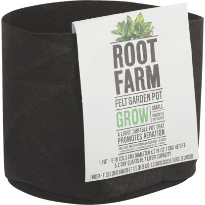Picture of Root Farm Felt Small Garden Pot