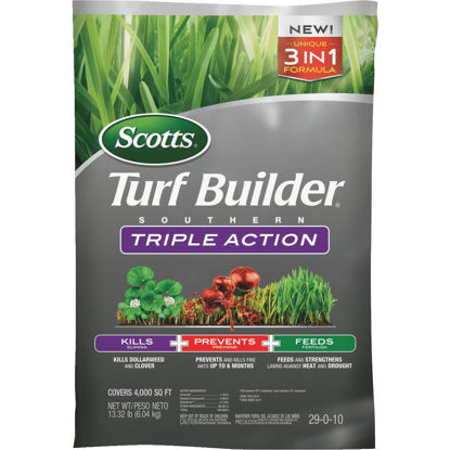 Picture of Scotts Turf Builder Southern Triple Action 13.32 Lb. 4000 Sq. Ft. Lawn Fertilizer with Weed Killer