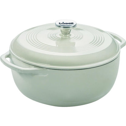 Picture of Lodge 6 Qt. White Enamel Dutch Oven
