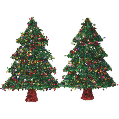 Picture of F C Young 18 In. Tinsel Christmas Tree Holiday Decoration