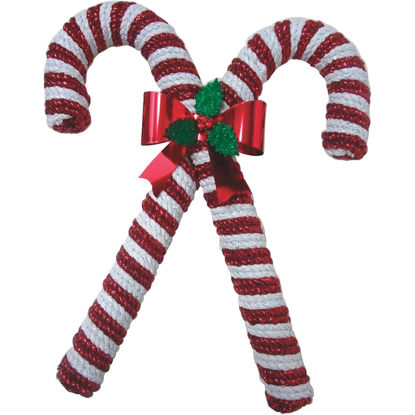Picture of F C Young 15 In. Tinsel Double Candy Cane Holiday Decoration