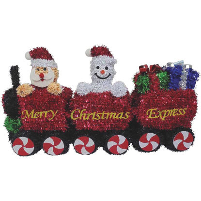 Picture of F C Young 15 In. Tinsel Christmas Train Holiday Decoration