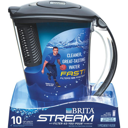 Picture of Brita Stream Rapids 10-Cup Gray Filter-As-You-Pour Pitcher