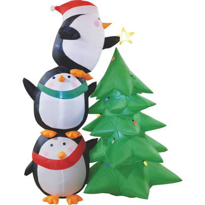Picture of Southern Joy 7 Ft. Penguin Trim the Tree Airblown Inflatable