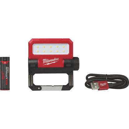 Picture of Milwaukee ROVER REDLITHIUM USB Rechargeable Pivoting Flood Cordless Work Light