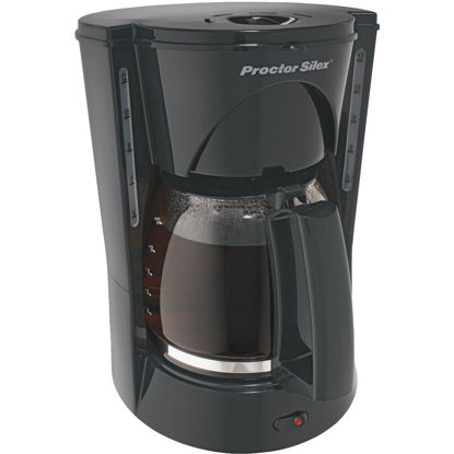 Picture of Proctor Silex 12 Cup Black Dual Window Coffee Maker