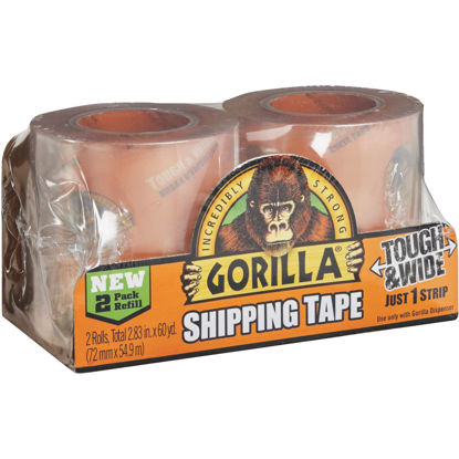 Picture of Gorilla 2.83 In. W. x 30 Yd. L. Clear Shipping Tape Refill (2-Pack)