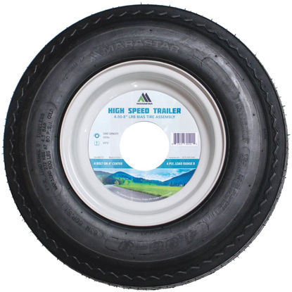 Picture of Marastar 4.80-8 In. Load Range B 4-Lug Trailer Tire and Wheel