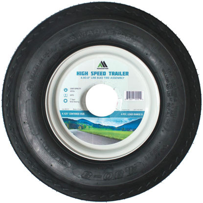 Picture of Marastar 4.80-8 In. Load Range B 4.125 In. Centered Hub, 1 In. ID Bushing Trailer Tire and Wheel