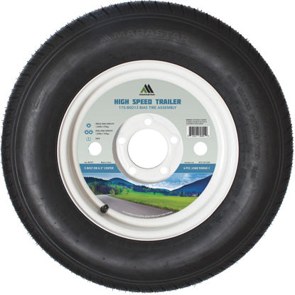 Picture of Marastar 175/80D13 Load Range C 5-Lug Trailer Tire and Wheel