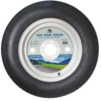 Picture of Marastar 205/75D15 Load Range C 5-Lug Trailer Tire and Wheel