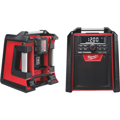 Picture of Milwaukee M18 18-Volt Lithium-Ion Bluetooth Cordless Jobsite Radio and Battery Charger (Bare Tool)
