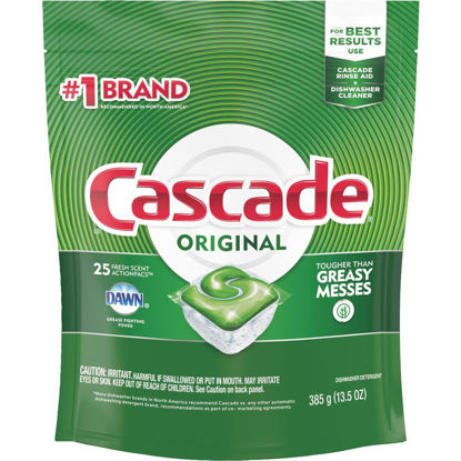Picture of Cascade Action Pacs Fresh Dishwasher Detergent Tabs, 25 Ct.