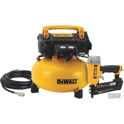 Picture of DeWalt 16-Gauge 2-1/2 In. Finish Nailer and 6-Gallon Pancake Compressor Combo Kit