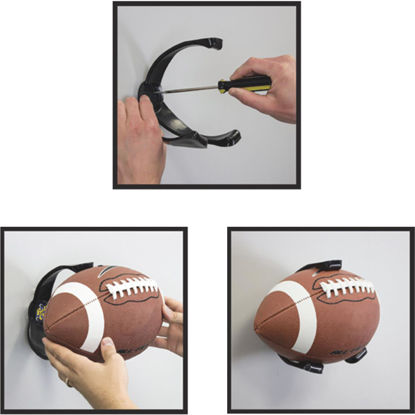 Picture of Ball Claw 5-1/4 In. W x 6-3/4 In. H. x 6-3/8 In. D. Football Storage Rack