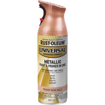 Picture of Rust-Oleum Universal 11 Oz. Metallic Desert Rose Gold Spray Paint & Primer In One