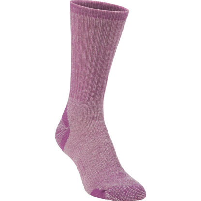 Picture of Hiwassee Trading Company Women's Medium Purple Medium Weight Hiking Crew Sock