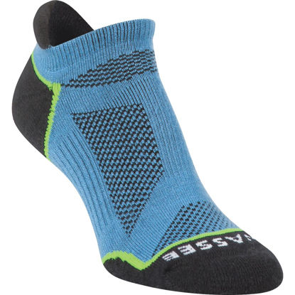 Picture of Hiwassee Trading Company Medium Blue Lightweight Running No Show Sock