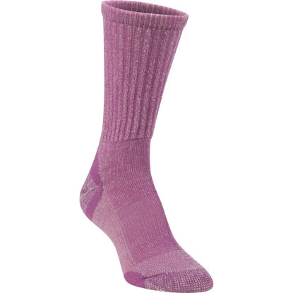 Picture of Hiwassee Trading Company Women's Medium Purple Lightweight Hiking Crew Sock