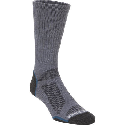 Picture of Hiwassee Trading Company Extra Large Charcoal/Blue Lightweight Performance Tech Crew Sock