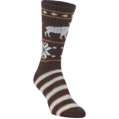 Picture of Hiwassee Trading Company Women's Medium Moosin Up Novelty Crew Sock