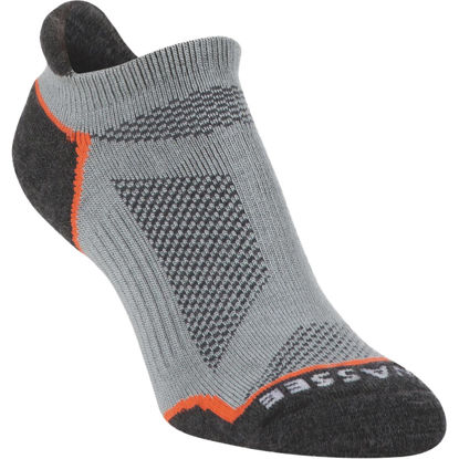 Picture of Hiwassee Trading Company Large Gray Lightweight Running No Show Sock