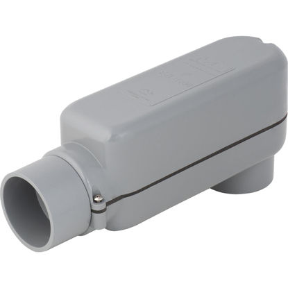 Picture of Madison Electric EZLB 2 In. Gray Molded PVC Service Entrance Conduit Body