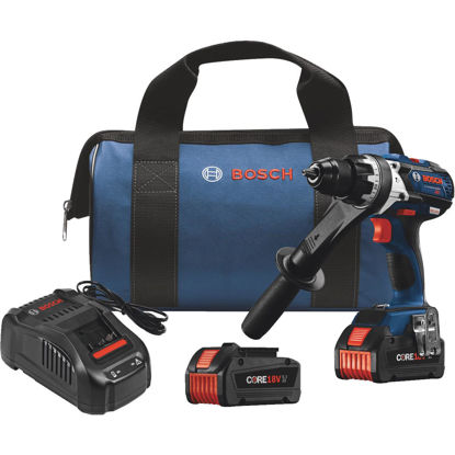 Picture of Bosch 18 Volt Lithium-Ion Brushless 1/2 In. Cordless Hammer Drill Kit