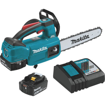 Picture of Makita 18V LXT Lithium-Ion Brushless Cordless 10 In. (5.0Ah) Top Handle Chain Saw Kit